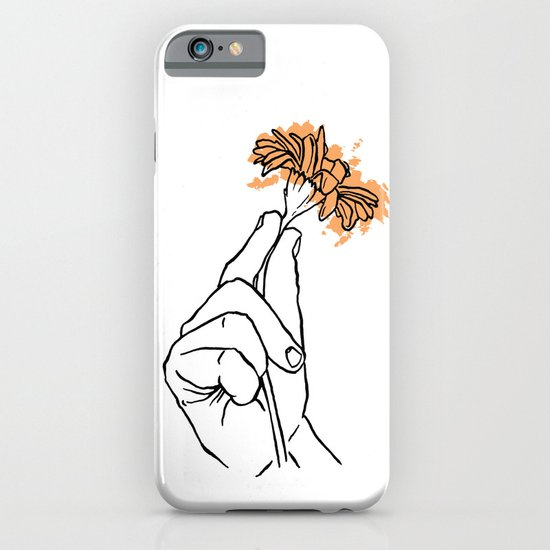 A Hand with a Flower iPhone & iPod Case