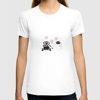 pixar T-shirts featuring pixar walle and eve love and romance... minimalistic by studiomarshallarts