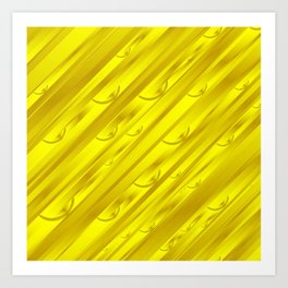 yellow abstract pattern in metal Art Print