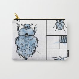 Bugs+Stones (Blue) Carry-All Pouch
