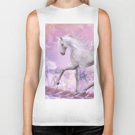 pink unicorn Biker Tank