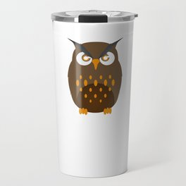 Not A Morning Person Funny Lazy Owl Night Hunter Nocturnal Birds Wildlife Gift Travel Mug