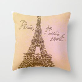 Mort Vintage Throw Pillow