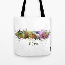 Dijon skyline in watercolor Tote Bag