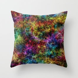 Rainbow Weaving Throw Pillow
