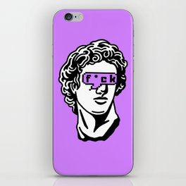 Caesar's Disappointment on Purple Background iPhone Skin