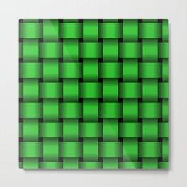 Large Lime Green Weave Metal Print