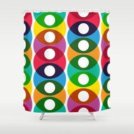 Geometric Pattern #64 (colorful bubbles) Shower Curtain