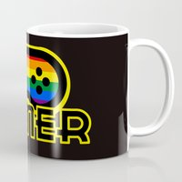 gamer Mugs featuring Rainbow Gamer by UMe Images