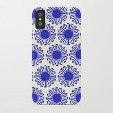 vintage flowers blue  iPhone X Slim Case