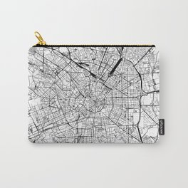 Milan White Map Carry-All Pouch