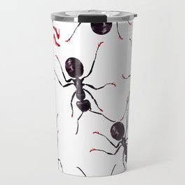 Ants in high red pumps Travel Mug