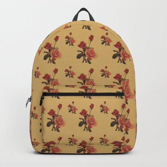retro postcard . rose in pastel tones Backpack