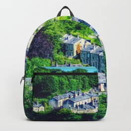Under And Over Houses Of Hebden Bridge  Backpack
