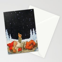 """""""Under the Stars"""" Gnomes by Jenny Nystrom Stationery Cards"""