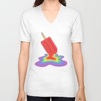 popsicle V-neck T-shirts featuring Popsicle by BTP Designs