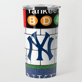 NYC Yankees Subway Travel Mug