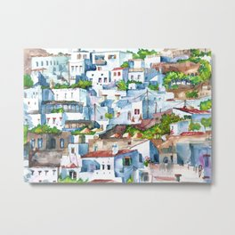 Panorama of Lindos Metal Print
