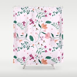 Blushing Berries Shower Curtain