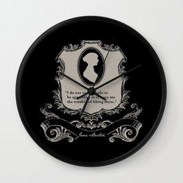 Jane Austen Snarky Quote Wall Clock