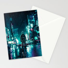 Another Rainy Night ( The Continuous Tale Of The Lost Astronauta) Stationery Cards