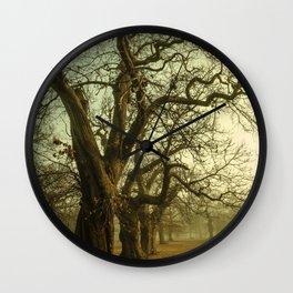 Winter Trees Wall Clock