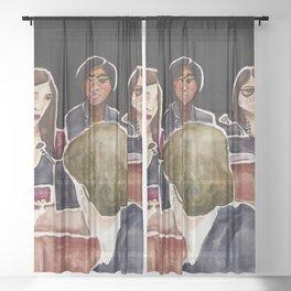 Goddesses of Congress Sheer Curtain