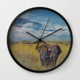 Elephant Savanna Wall Clock