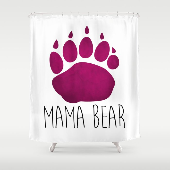 Mama Bear Shower Curtain