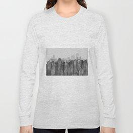 Wellington City, NZ Skyline - B&W Long Sleeve T-shirt