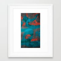 calligraphy Framed Art Prints featuring Calligraphy by Imad Hasan