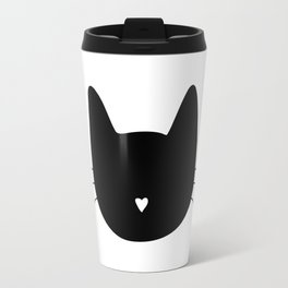 Cat Heart Nose Travel Mug
