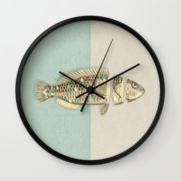 Half Fish Wall Clock