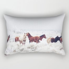 Winter Horseland Rectangular Pillow