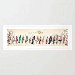 FORMOSA SERIES【Oncorhynchus masou formosanus】 Art Print