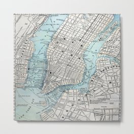 NEW YORK CITY MAP ORIGIN Metal Print
