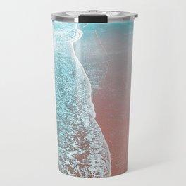 Sea Blue + Rose Gold Travel Mug