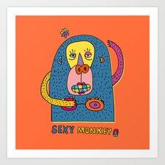 Sexy monkey Art Print