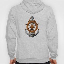 Nautical Ships Wheel And Anchor Hoody