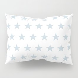 Dove gray stars on white pattern Pillow Sham
