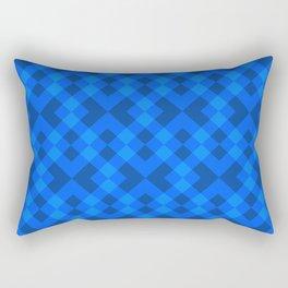 Hypnotic blue tile Rectangular Pillow