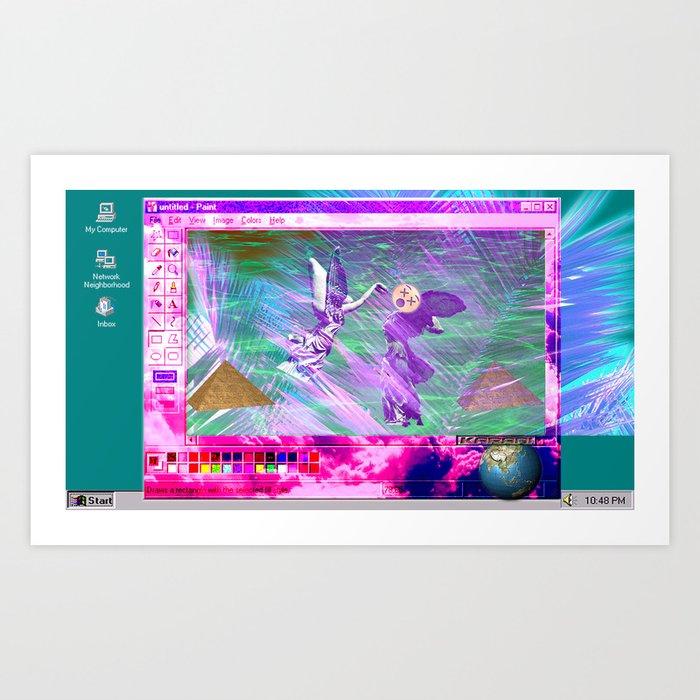 Windows 95 Default Wallpaper Art Print By Karani