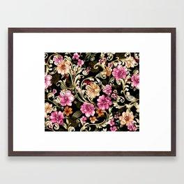 pattern art flowers Framed Art Print