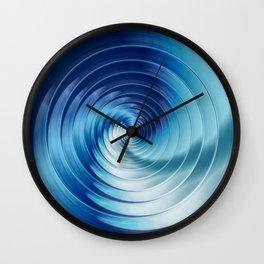 Metallic Blue Disks Wall Clock