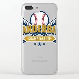 Vanderbilt-Baseball Championship T-shirt Clear iPhone Case