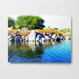 Beautiful Blue Nile River Metal Print