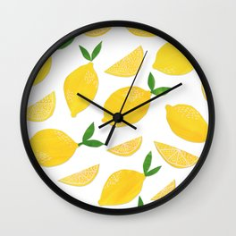 Lemon Cut Out Pattern Wall Clock