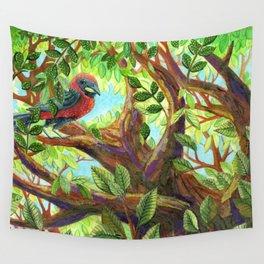 Bird up a Tree Wall Tapestry