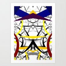 geometric architecture Art Print