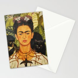 Frida Kahlo Self-Portrait Thorn Necklace and Hummingbird Stationery Cards